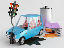 Cars and Alcohol Stock Photos