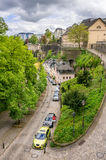 Cars and architecture in Luxembourg Royalty Free Stock Photography
