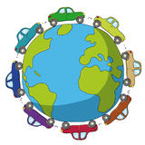 Cars around the world Royalty Free Stock Photography