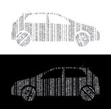 Cars as barcode Royalty Free Stock Images