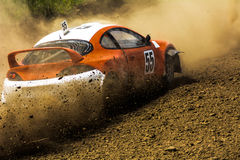 Cars on the autocross. Stock Photo
