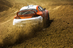Cars on the autocross. Stock Photos