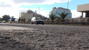 Cars in the avenue stock video footage