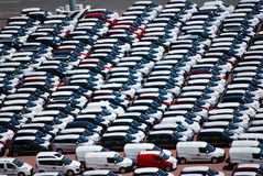 Cars awaiting sale Stock Photography