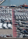 Cars awaiting sale Stock Image