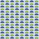 Cars for babies pattern. Blue and green cars for babies, pattern Stock Photography