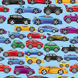 Cars on blue. Stock Image