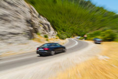 Cars in blur Stock Image