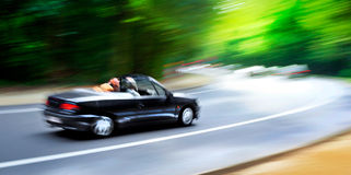 Cars in blurred motion on road. Abstract background. Royalty Free Stock Photos
