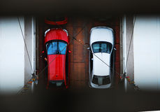 Cars in a bridge Stock Photography