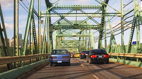 Cars on Bridge Royalty Free Stock Photos
