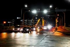 Cars on bridge