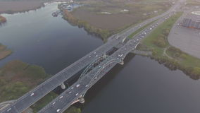 Cars on the bridge stock video