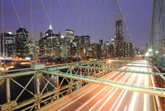 Cars on Brooklyn Bridge Stock Images