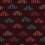 Cars on a brown background royalty free stock photo