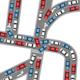 Auto traffic jam busy road cars drive Stock Photography