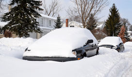 Cars buried in snow Royalty Free Stock Photos