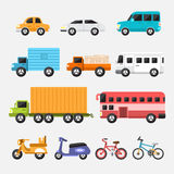 Cars. Car icon set concept transportation.Vector flat design Stock Photos