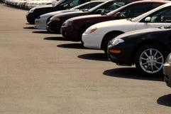 Cars on Car Lot. Row of cars on a car lot Stock Photography