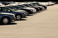 Cars on Car Lot Stock Photo