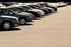 Cars on Car Lot. Row of cars on a car lot Stock Photo