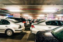 Cars in car park Stock Image