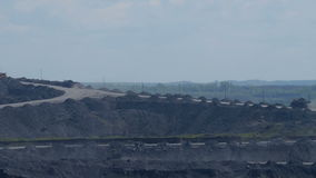 Cars carry coal Timelapse. Most of the coal industry, BelAZ carry 220 tons of coal stock video