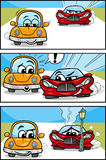 Cars cartoon comic story Royalty Free Stock Images