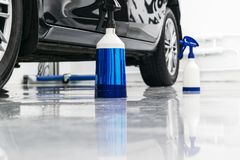 Cars in a carwash. Car wash with foam in car wash station. Carwash. Washing machine at the station. Car washing concept. Car detai. Ling stock images