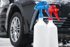 Cars in a carwash. Car wash with foam in car wash station. Carwash. Washing machine at the station. Car washing concept. Car detai. Ling stock image