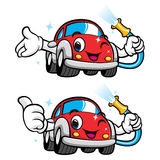 Cars Character Car Wash to Cool Royalty Free Stock Photo