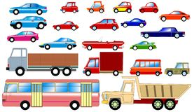 Cars collection Stock Images