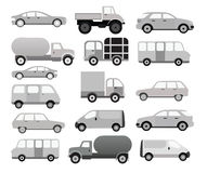 Cars collection (black & white) Stock Photography