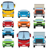 Cars collection (front view) Stock Photos