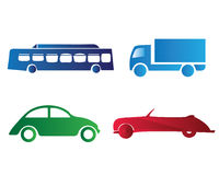 Cars collection. Illustration with different cars, colorful Royalty Free Stock Photography