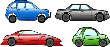 Cars collection, vector Stock Image