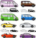 Cars collection, vector Royalty Free Stock Image