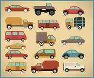 Cars collection royalty free illustration