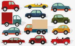 Cars collection Royalty Free Stock Photo