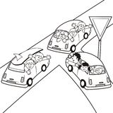 cars, coloring book stock illustration