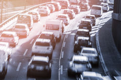 Cars in a congestion Stock Image