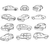 Cars contours vector Stock Images
