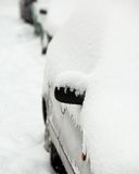 Cars covered with snow Royalty Free Stock Photography