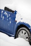 Cars covered with snow Stock Photography