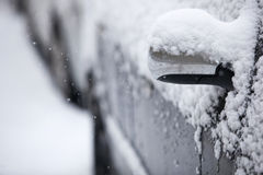 Cars  covered with snow Stock Photo
