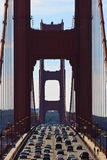 Cars crossing the Golden Gate Bridge Royalty Free Stock Photo