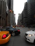 Cars Crossing a Road in Manhattan. Stock Image