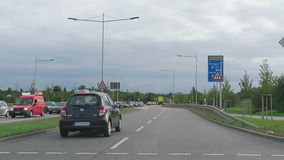 Cars at a crossroads. PHORZHEIM, GERMANY - SEPTEMBER 3, 2015: Cars at the crossroads stock video footage