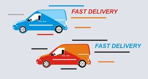 Cars delivery Royalty Free Stock Image