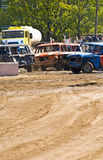Cars at a Demolition Derby Royalty Free Stock Photography